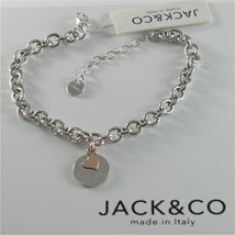 Silver Bracelet 925 Jack&co Jersey Shaped Rings and Pendant Gold Pink 9 Carats image 5
