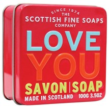 Scottish Fine Soaps Love You - Sea Kelp Soap in a Tin 100g 3.5oz - $10.00