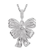 """Bow Design 18"""" Necklace In 14K White Gold - $336.59"""