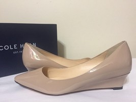 Cole Haan Bradshaw Wedge 40 Maple Sugar Patent Women's Wedge Heels Pumps... - $98.01