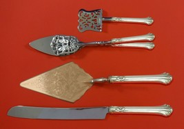 Silver Plumes by Towle Sterling Silver Dessert Serving Set 4pc Custom Made - $299.00