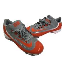 Nike BSBL Huarache soccer football sports Cleats Orange Grey Mens Size 11 - $19.79