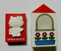 Hello Kitty Eraser with Case House Old SANRIO Retro 1976' Cute Goods Rare - $44.60