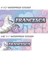 Unicorn Stickers, Personalized Unicorn Labels, Waterproof for Back to Sc... - $2.00+