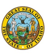 Idaho State Seal Sticker MADE IN THE USA R531 - $1.45 - $9.45