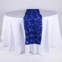 Royal Blue 14 Inch x 108 Inch Rosette Table Runner - $16.80
