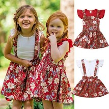 New Arrivels Kids Baby Girls Sister Matching T-shirt Skirts Dress Princess - $11.57