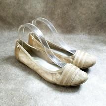 Anne Klein Sport Womens Atworth  Size 10.5 Tan  Slip On Snakeskin Ballet... - $19.99