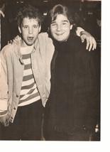 Corey Haim Corey Feldman teen magazine pinup clipping together again black white