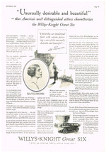 Willys Knight Great Six Car Automobile Magazine Advertisments Ad Vintage... - $5.93