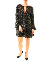 Free People Women's Drapey NY Print Beck Mini Dress Black RRP £102 BCF612 - $95.35