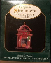 1997 Hallmark Keepsake Ornament Miniature Ready For Santa (NIB) - $6.32