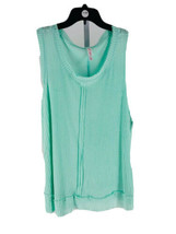 Xhilaration Juniors Mint Green Waffle Knit Scoop Neck Sleep Shirt Size X... - $7.92