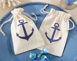 12 Anchor Muslin Favor Bags Candy Sweets Treats Wedding Reception Favor ... - $16.08