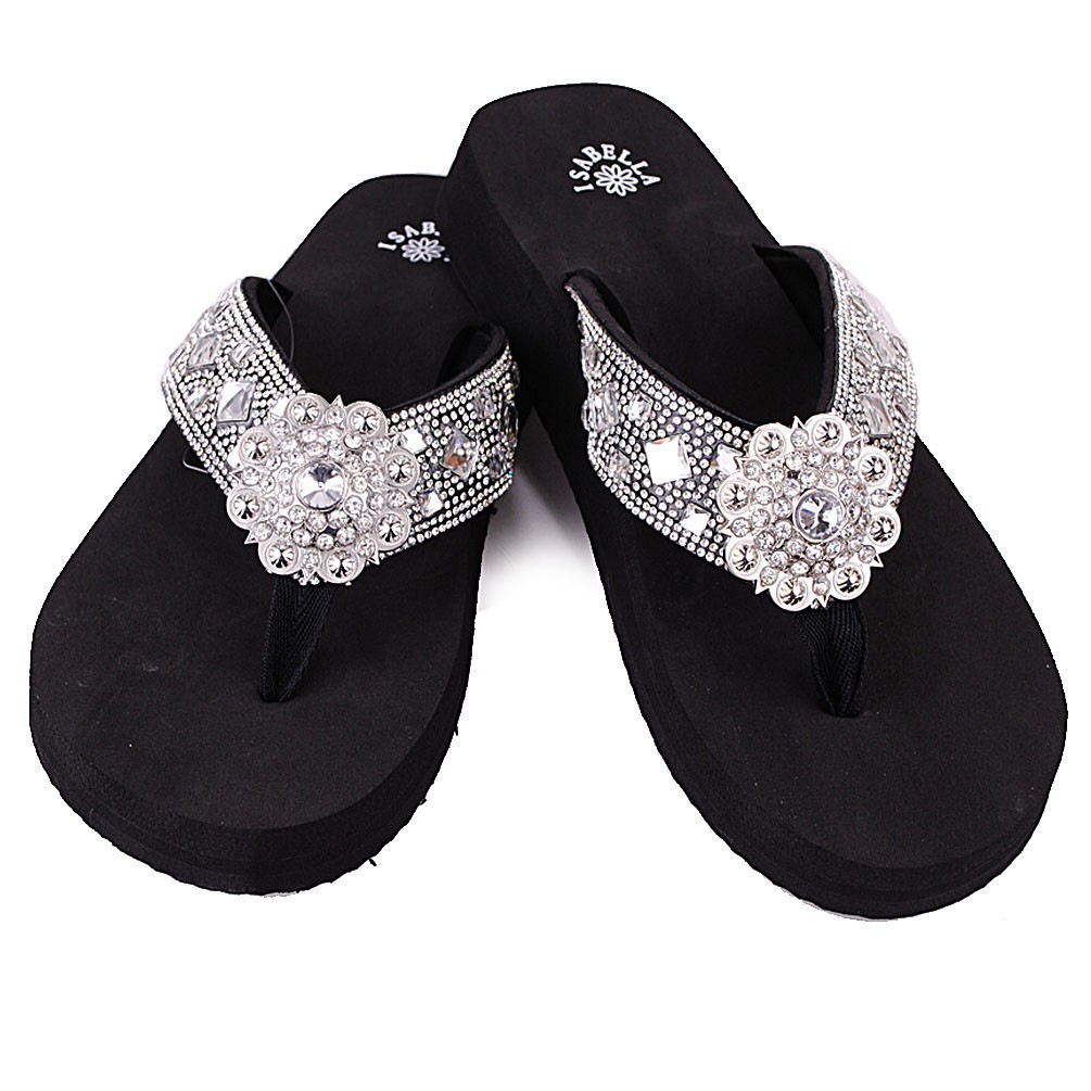 f1a102194ef0 New Isabella Flip Flops Rhinestone Black and 50 similar items. S101 wt z  s101 bk 1