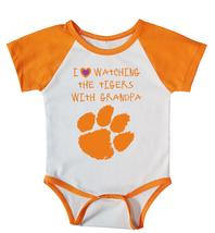 Clemson Tigers Onesie Love Watching With Grandpa Shirt Bodysuit - $17.00