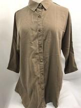Coldwater Creek Brown Tencel Doman Shirt, Women's Size Small, NWT - $37.99