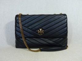 NWT Tory Burch Black Kira Chevron Convertible Shoulder Bag - 100% AUTHENTIC - $512.80