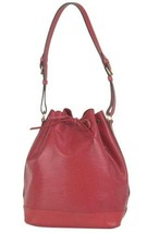 Auth Louis Vuitton EPI Noe Shoulder Bag Red Leather Drawstring Logo LVB0748 - $459.36