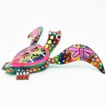 Handmade Alebrijes Oaxacan Copal Wood Carving Painted Folk Art Sea Turtle Figure image 5