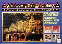 Amsterdam By Night Jigsaw Puzzle 1000 pieces - $38.99