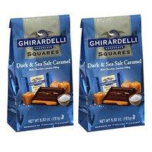 Ghirardelli Dark & Sea Salt Caramel Chocolate Squares, 5.32 oz - Pack of 2 - $18.78