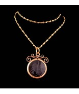 Antique Victorian Fob necklace - 10kt gold Pocketwatch intaglio fob - di... - $245.00