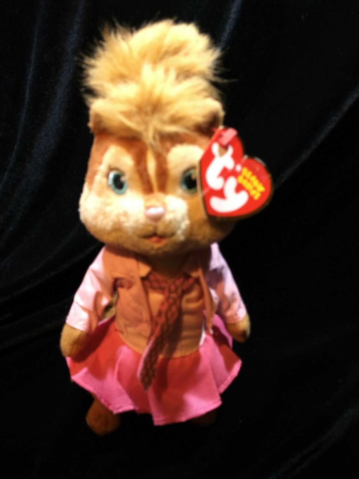 NEW ALVIN AND & THE CHIPMUNKS GIRL PINK BRITTANY STUFFED PLUSH TY BEANIE