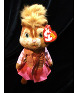 NEW ALVIN AND & THE CHIPMUNKS GIRL PINK BRITTANY STUFFED PLUSH TY BEANIE - $14.00