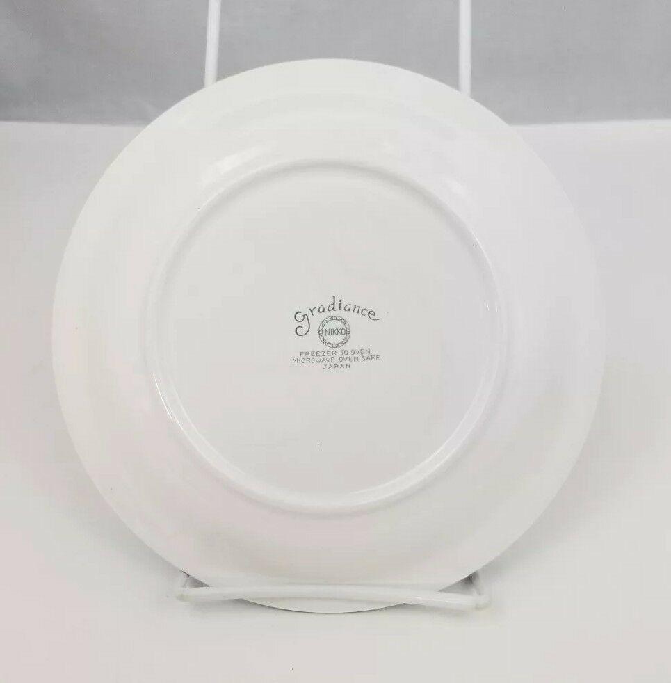 """Nikko Gradiance Bread Plate Set of 4 Azure Leafette Dish Microwave Safe 7.5"""" image 9"""