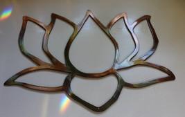 "Garden Lotus Flower Copper Plated Metal Wall Art Decor 7 1/2"" tall x 12"" wide - $26.72"