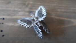 Vintage Sterling Silver Butterfly Brooch 4 x 4.5 cm - $32.17