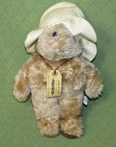"Paddington Bear 1981 EDEN Plush Tan teddy White Hat DARKEST PERU Tag 13""... - $24.75"