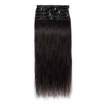 """24"""" Remy Clip in on Hair Extensions Remy Human Hair Standard Weft 80g 8 Pcs 18 C image 6"""