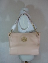 NWD Tory Burch Light Oak Pebbled Leather Small Britten Slouchy Tote - $475 - $295.02