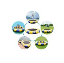 Blue n yellow 15 foot water trampoline2 thumb200