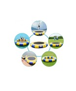 Blue & Yellow 15 ft Inflatable Water Trampoline Float Raft Bounce Jump B... - $587.98
