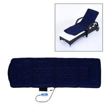 10 Motor Back & Full Body Massage Cushion Mat Pad W/Heat. Plush Blue. - $55.12