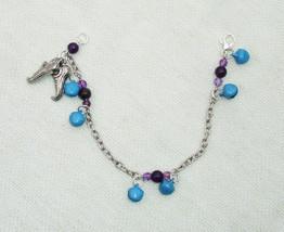 Handmade Fairy Calling Amethyst Gemstone Charm Bracelet - Fashion Jewelry - $16.99