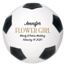 Flower Girl Mini Soccer Ball Wedding Gift - Personalized Wedding Favor - $34.95