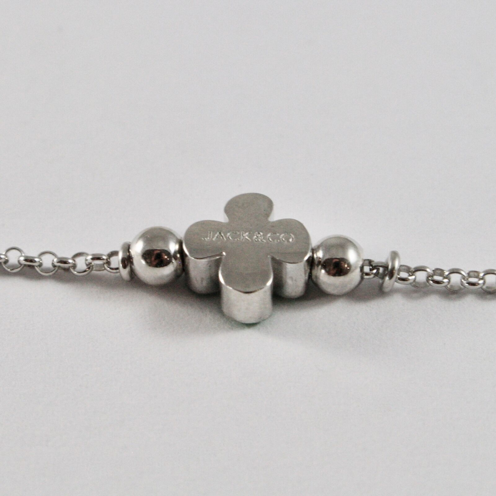 Bracelet en Argent 925 Jack&co Trèfle Porte- Fortuna Émaillé JCB0904 image 4
