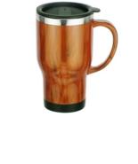 16 oz Double Wall Insulated Stainless Steel Mug Wood Grain Laminate Trav... - $14.95