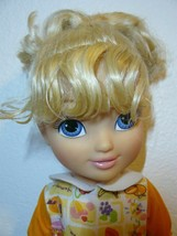 """DISNEY Princess Toddler Blond Girl Doll in printed fruits design outfit 15"""" - $24.75"""
