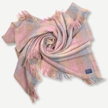 Pendleton 80s Vintage 100% Virgin Pure Wool Pink Plaid Soft Warm Woven B... - $115.83