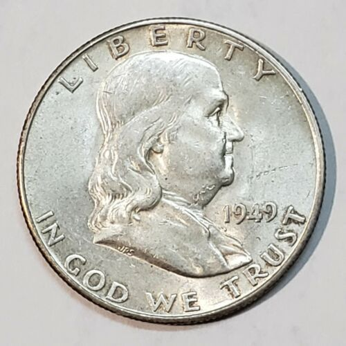 1949S 50C Franklin Silver Half Dollar KEY DATE Lot A701