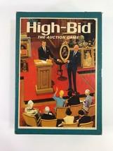 Vintage High Bid The Auction Game 1965 3M Bookshelf Board Game Complete - $12.86