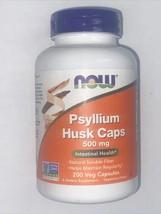 Now Foods Psyllium Husk Caps 500 mg Intestinal Health - 200 Veg Capsules... - $14.99