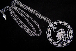 Vintage Sarah Coventry SWAN LAKE Pendant Necklace, Mid 1970s - $11.95