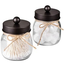 Shee Mason Jar Bathroom Apothecary Jars - Stainless Steel Lid, (Bronze, ... - $18.97