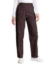 Scrub Pants L Petite Adar Brown Elastic Waist Cargo Uniform Nurse Ladies 503 New - $19.37